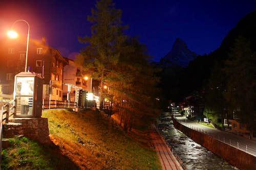 Cervino after Sunset from Zermatt