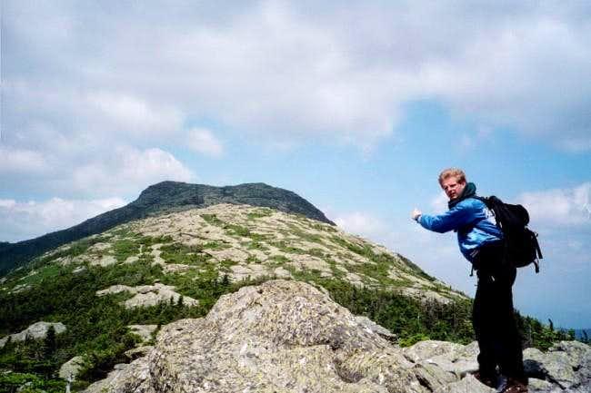 Me climbing The Long Trail...