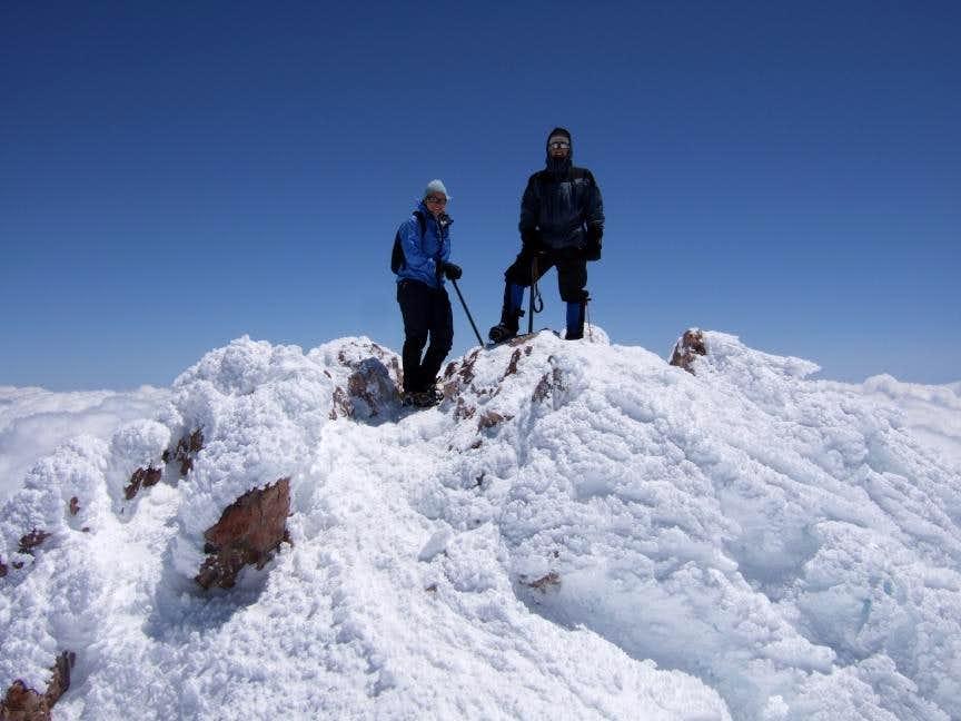 On the summit of Shasta