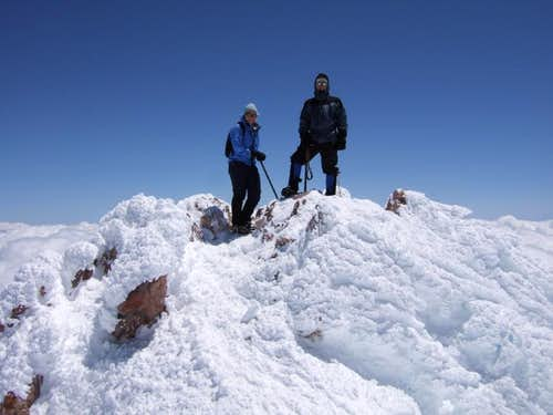 On the summit of Shasta