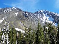 Crazy Peak and Big Timber PK. (Left)