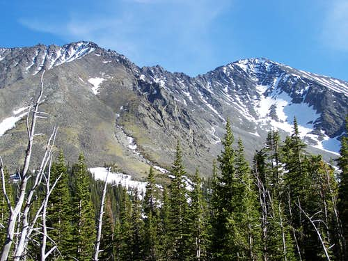 Crazy Peak and Big Timber PK. (Left)