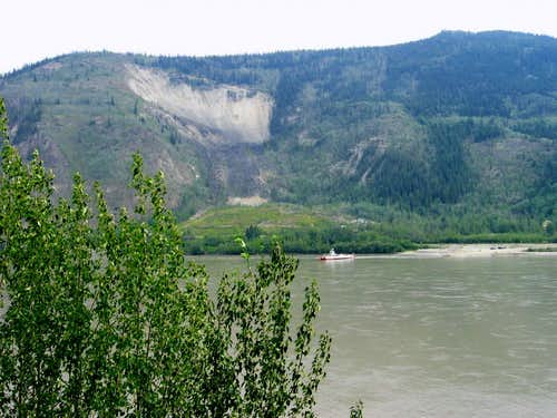 Midnight Dome, the Yukon River,  and the George Black Ferry