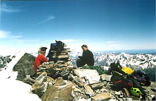 Mt. Earnslaw summit - january...