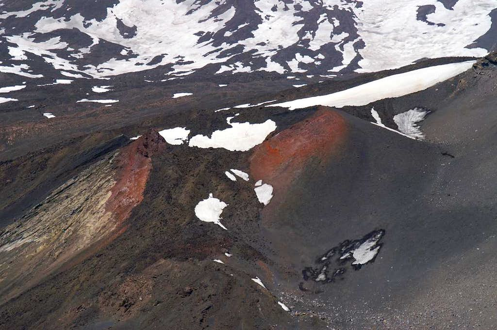 Side crater below the Etna summit