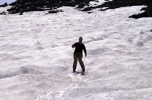 Boot-Skiing down Monte Etna