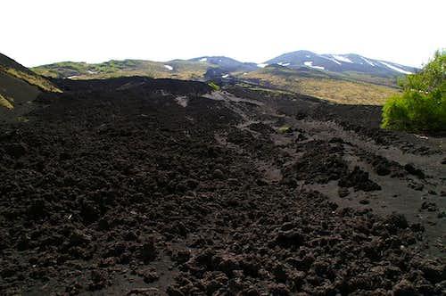 Crossing the last lava fields