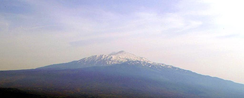 Monte Etna seen from Portella Mandrazzi