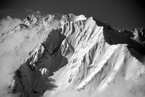 Mt Superior in B&W