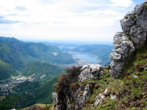 Lecco from the Sinigaglia Ridge