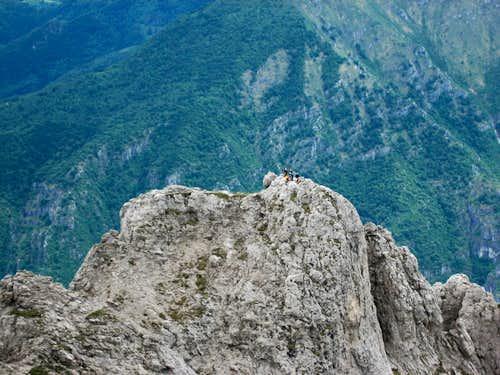 Magnaghi Summit from the upper part of Sinigaglia Ridge