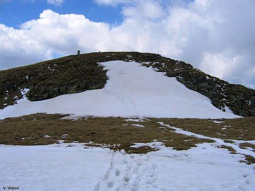 Near the Midzor summit