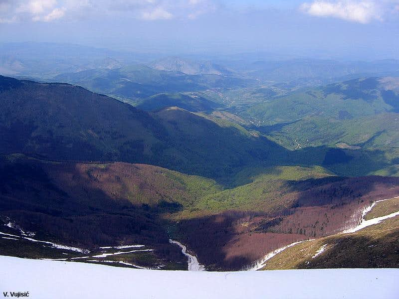 Midzor S summit view