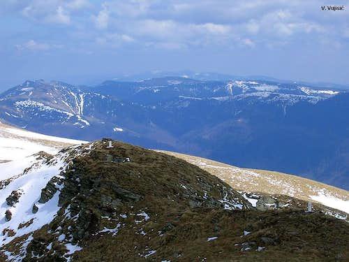 Midzor W summit view