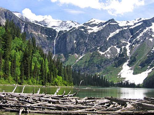 Avalanche Lake - Gunsight Mountain