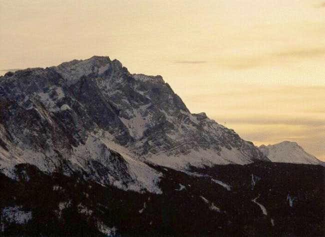Zugspitze from Krammer, in...