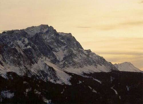 Zugspitze from Krammer, in...