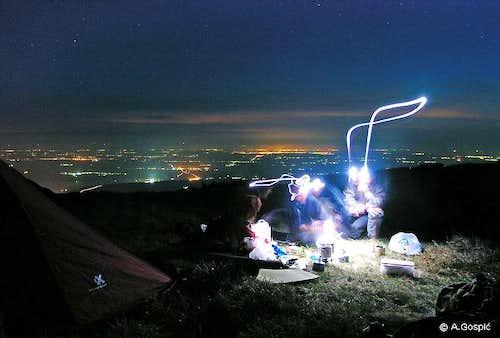 Sveto Brdo by Night