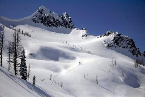 Skier's below us from s....