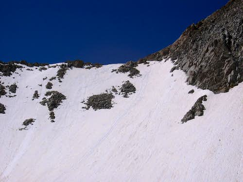 Upper, western part of the Maybird Gulch headwall.