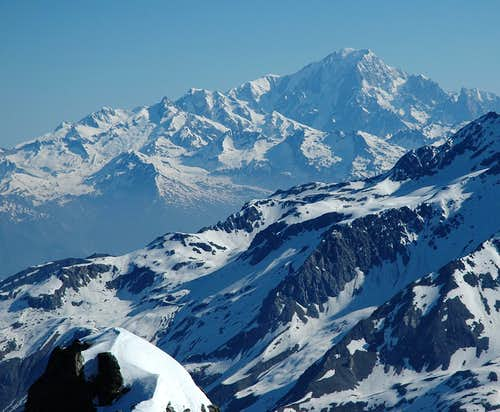 Mont Blanc as viewed from Vanoise