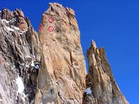 Grand Capucin <i>(3838m)</i> and Trident <i>(3639m)</i>