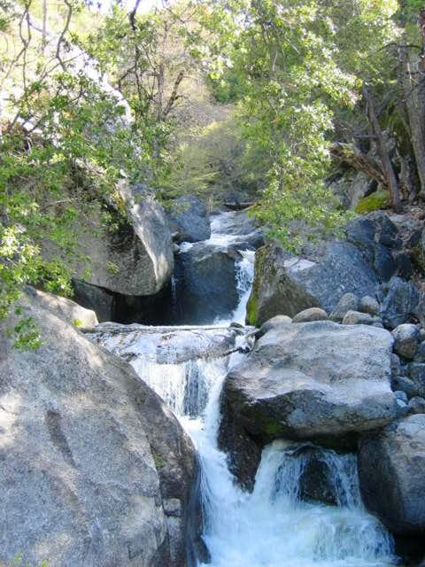 Tiltill Creek cascades down a...