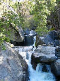 Tiltill Creek cascades down a...