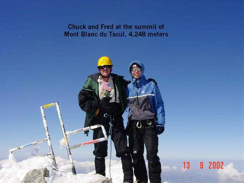 Summit of Mont Blanc du Tacul