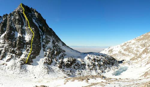 Crestolita\'s NE Ridge (a.k.a Analemma) route in February 2006