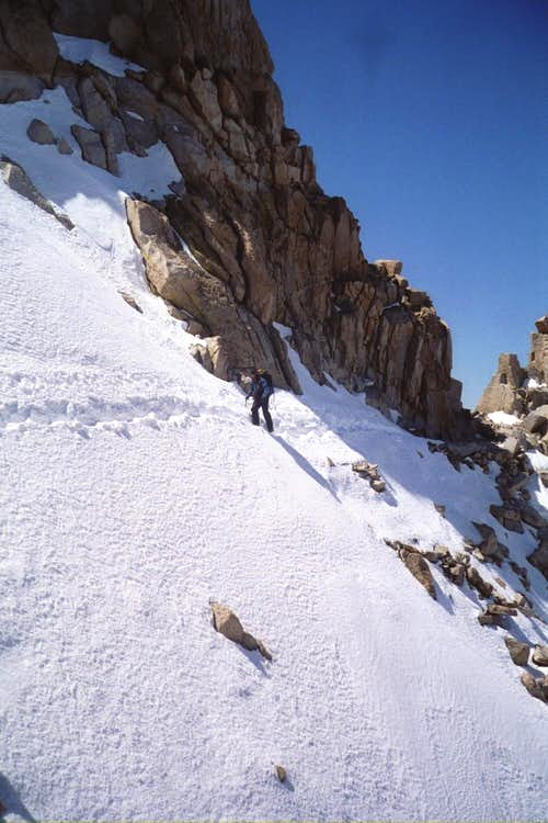 Steep Snowfield Traverse