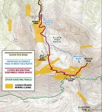 West Face Route Map
