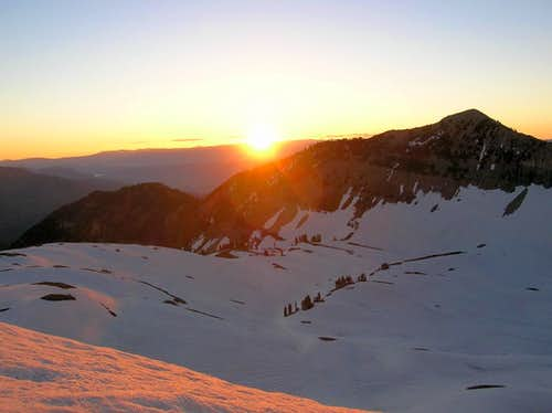 Sunrise over the Timpanogos Basin