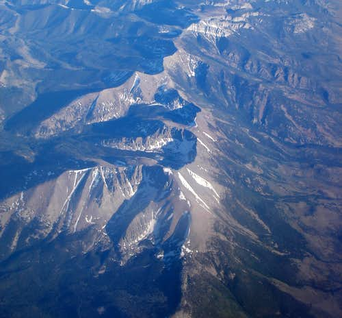 Wheeler Peak from the Air