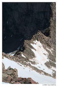 Sawtooth ridge seen from Mt. Bierstadt