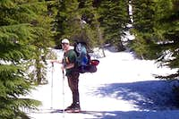 Ski/hike into green lakes basin.