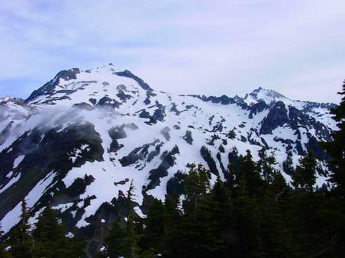 Sahale and Buckner from Cascade Pass