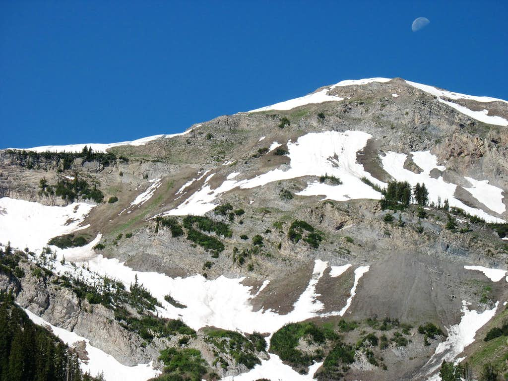 Moon above South Box Elder