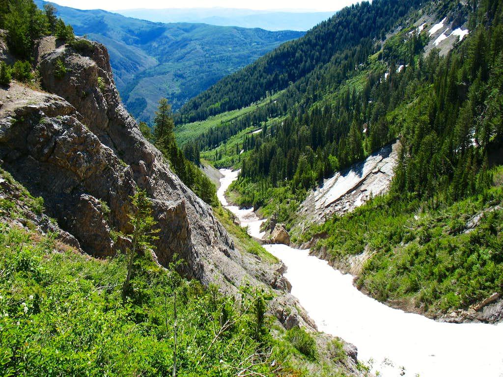 Valley east of Box Elder Peak