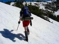 ashley climbing snow