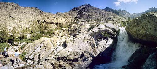 Panorama from below Tighiettu hut