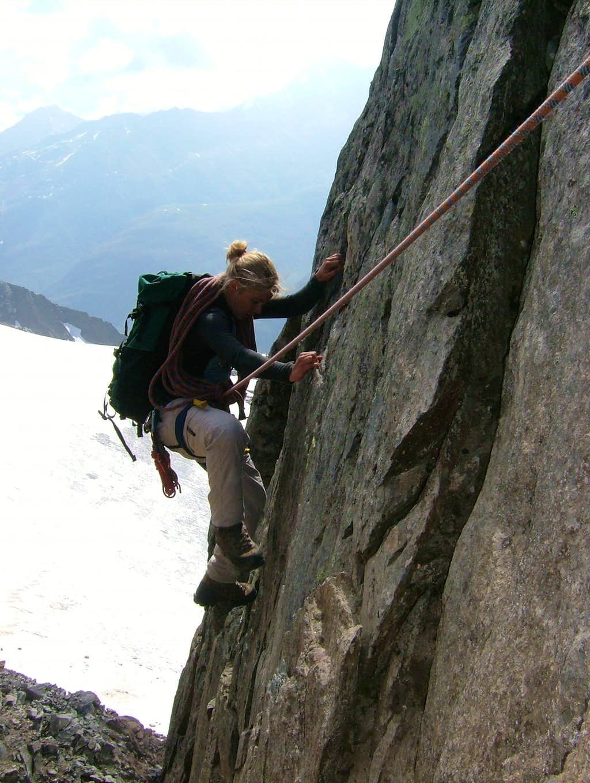 Climbing on the Southeast ridge