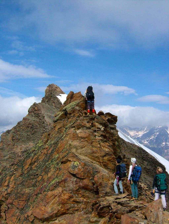 Climbing between Großer and Mittlerer Ramolkogel