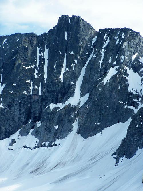 Crazy Mtns, vertical wall face