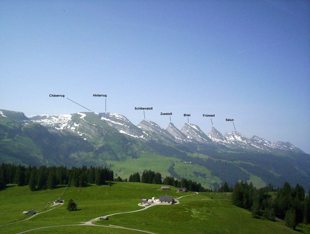 Churfirsten with names