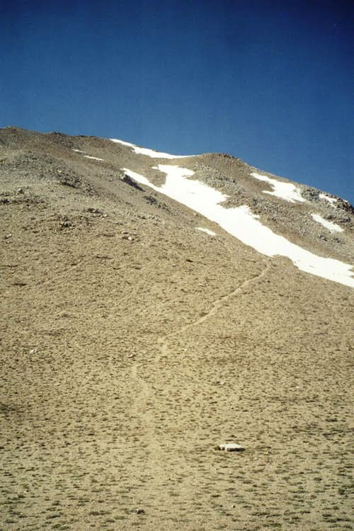 Boundary scree slope