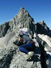 taking a nap on the summit of...