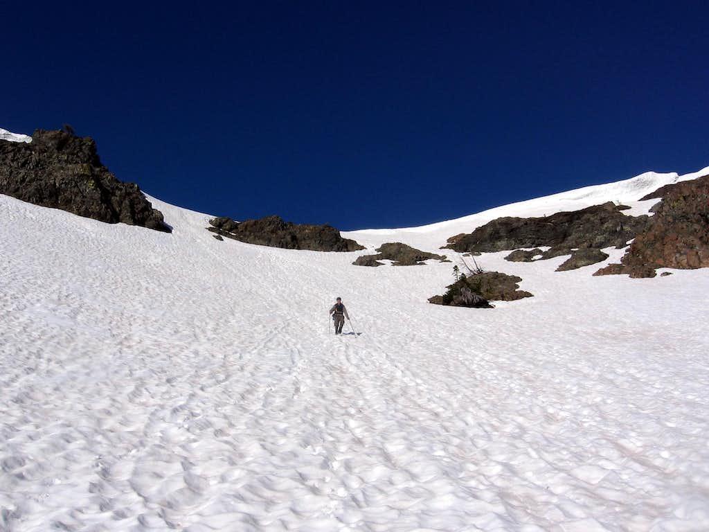 Adam descending Longs Pass