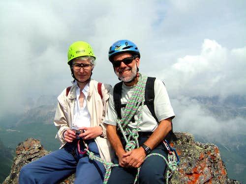 On the summit of la Mèsola