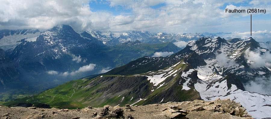 Faulhorn and Eiger from Schwarzhorn